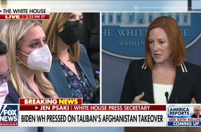 Psaki says Biden admin will 'judge the Taliban by their actions'
