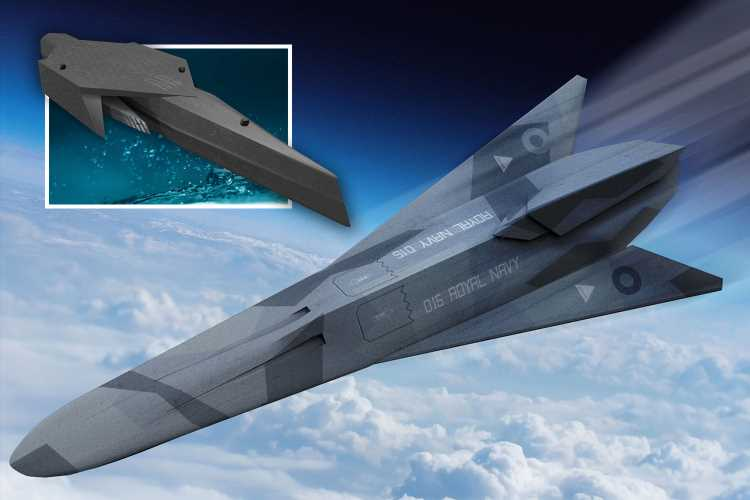 Royal Navy reveals 'fleet of the FUTURE' with self-driving submarines and 'fast-strike rail gun drones'